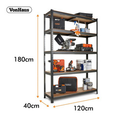 VonHaus Extra Wide 1.8m 5 polični regal