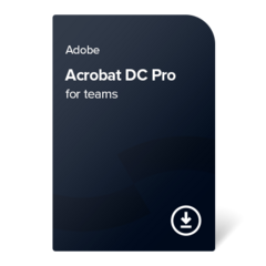 Adobe Acrobat DC Pro for teams (EN) – 1 leto digital certificate