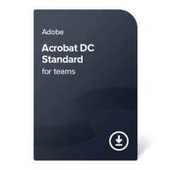 Adobe Acrobat DC Standard for teams (EN) – 1 leto digital certificate