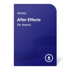 Adobe After Effects for teams (EN) – 1 leto digital certificate